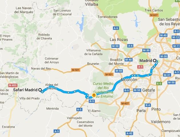 Ruta Madrid-Aldea del Fresno Safari Madrid