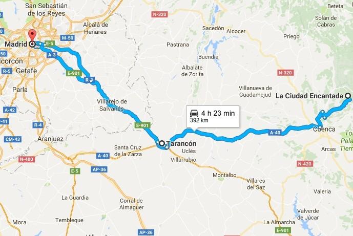 Ruta Madrid-Ciudad Encantada de Cuenca