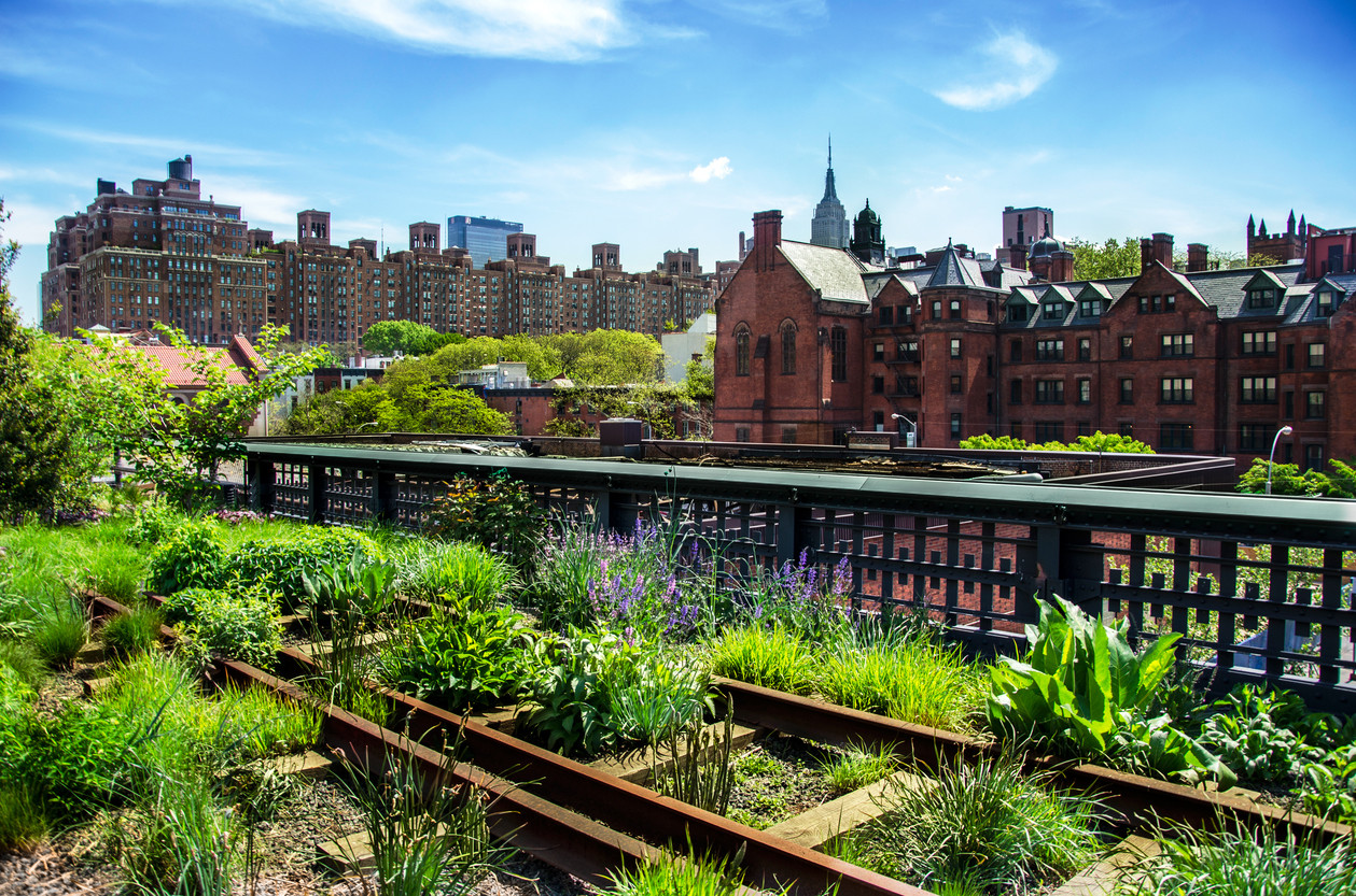 High Line. Urban public park. New York City, Manhattan.