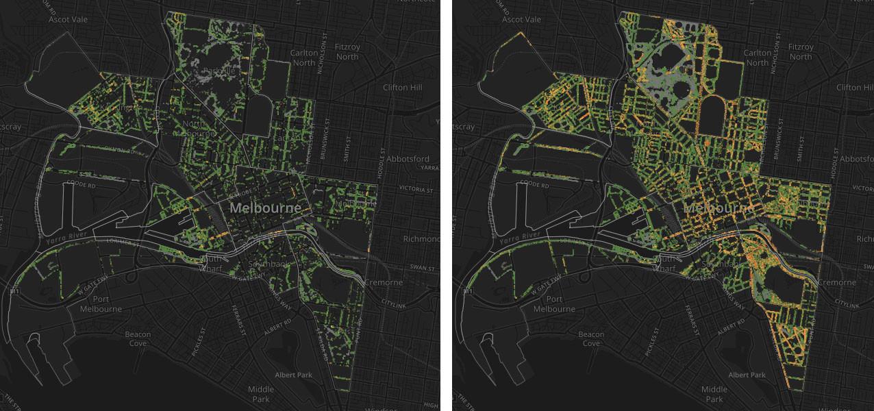 Melbourne antes y después - adopta un árbol