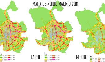 Este es el mapa de ruido de Madrid que marca dónde puedes sufrir más la contaminación acústica