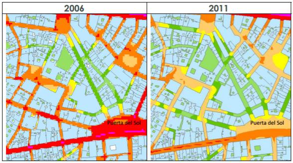 peatonalización mapa de ruido