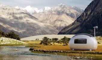 La casa más sostenible parece que viene de Marte: así es la Ecocapsule