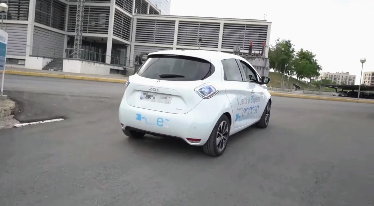 vuelta a España en vehículo eléctrico renault zoe