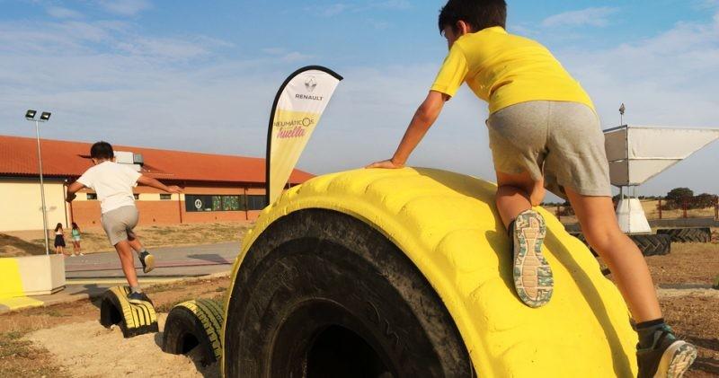 Los neumáticos reciclados, los protagonistas del Parque Cecilia