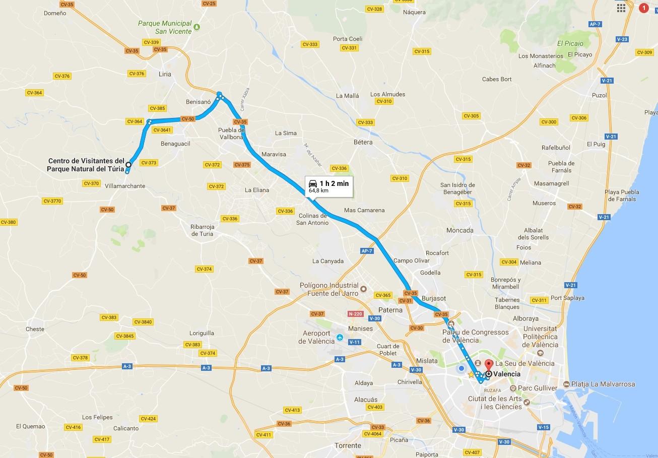 Ruta Valencia-Parc del Turia