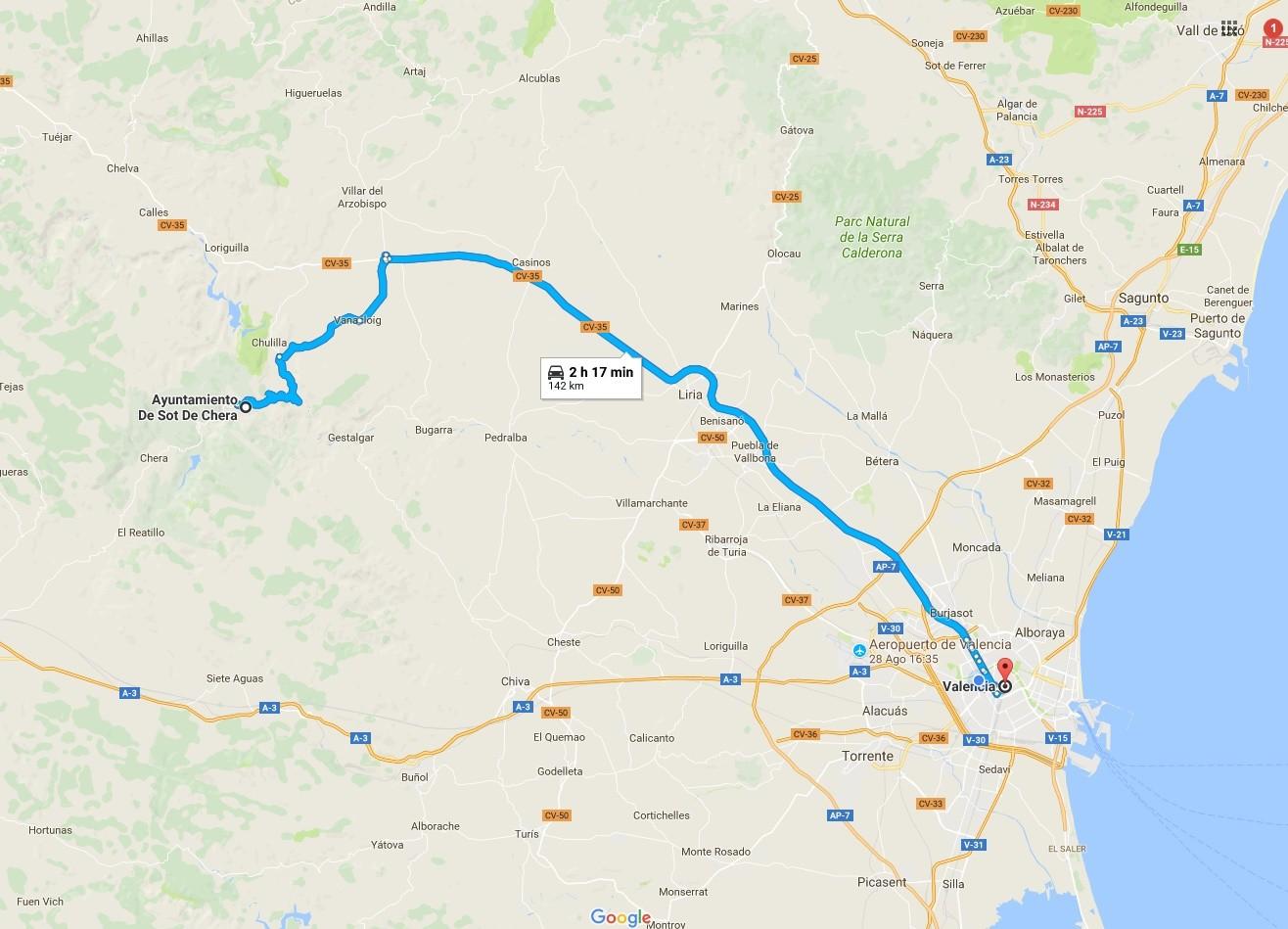 Ruta Valencia-Parque Natural de Chera-Sot de Chera