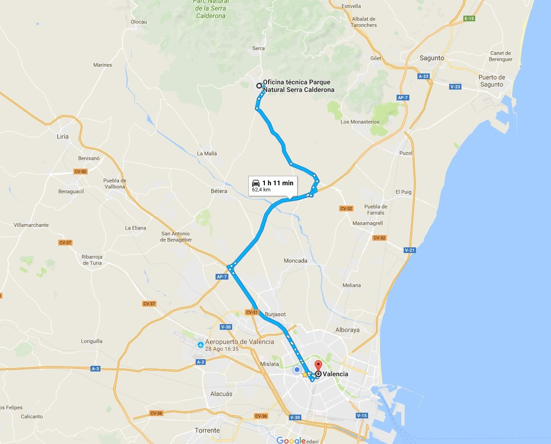 Ruta Valencia-Sierra Calderona