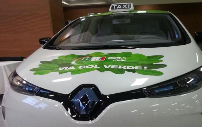 Renault ZOE taxi en Roma