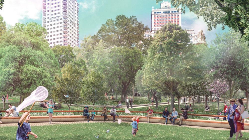 Plaza de España Welcome Mother Nature