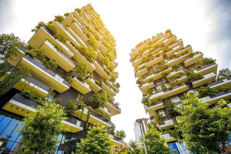 Edificios verdes en Milán