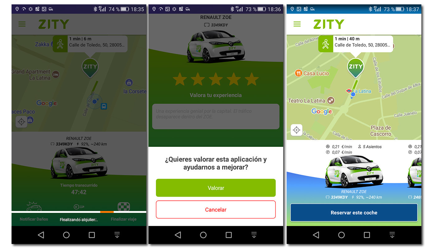 aparcar coche renault zoe carsharing zity