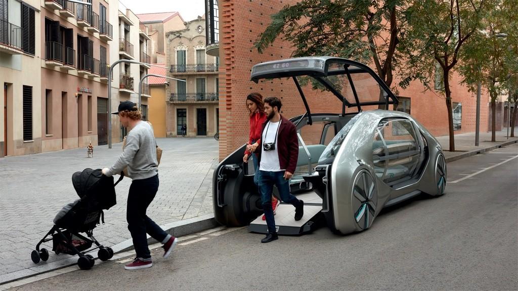 Acceso frontal del Renault EZ-GO