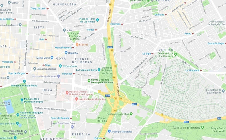 zonas verdes Madrid
