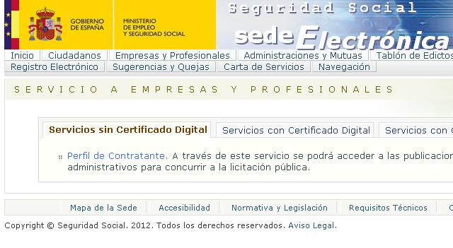 Notess notificaciones electr nicas de la seguridad social for Oficina electronica seguridad social