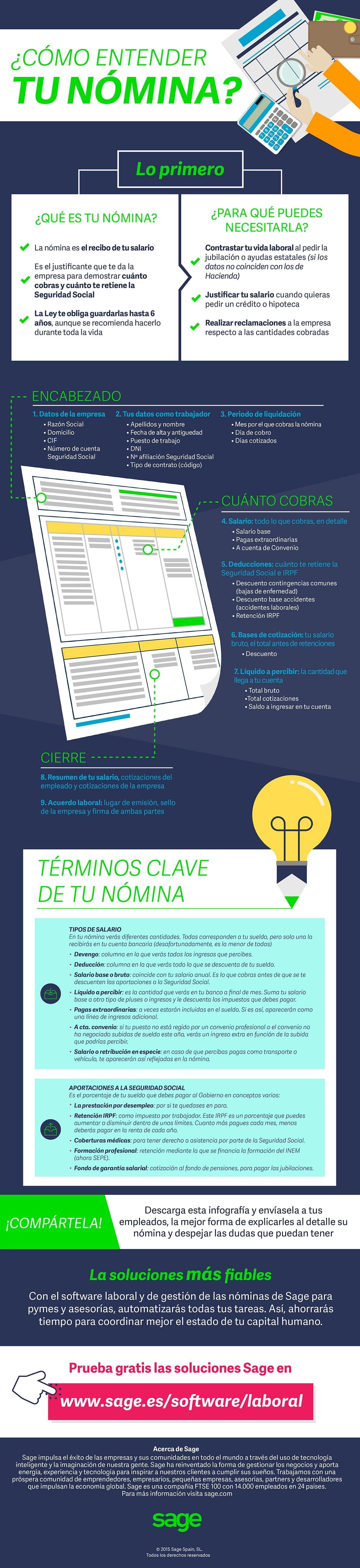 Cómo hacer que tus empleados entiendan sus nóminas (infografía ...