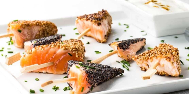 Pinchos de salmón