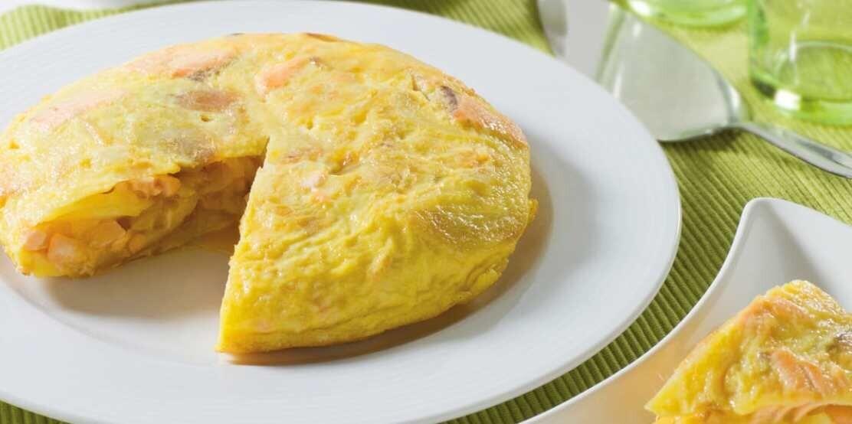 Tortilla de patatas con salmón