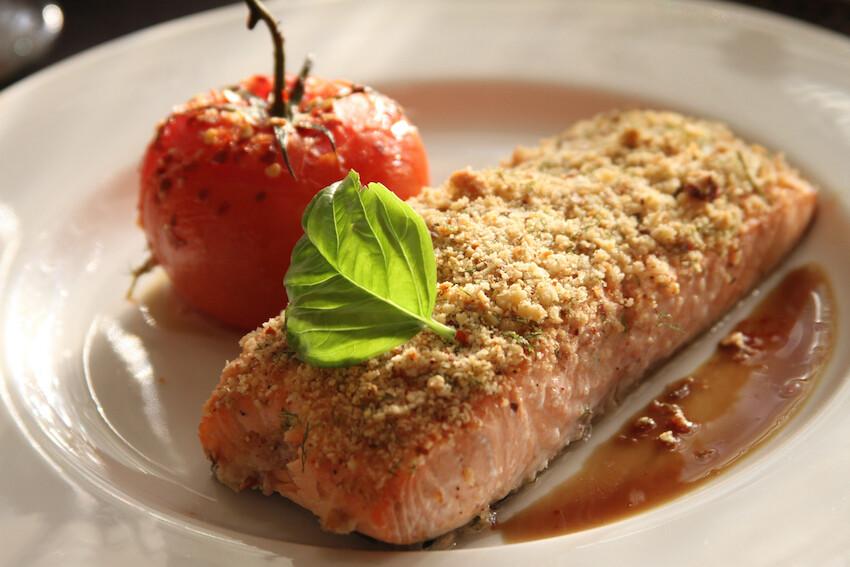 salmon almendras