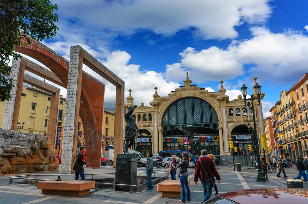 Zaragoza, ciudad prueba, mercado de Lanuza
