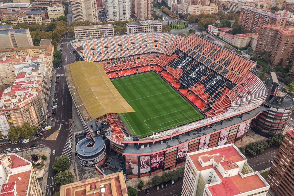 Estadio de Mestalla en Valencia