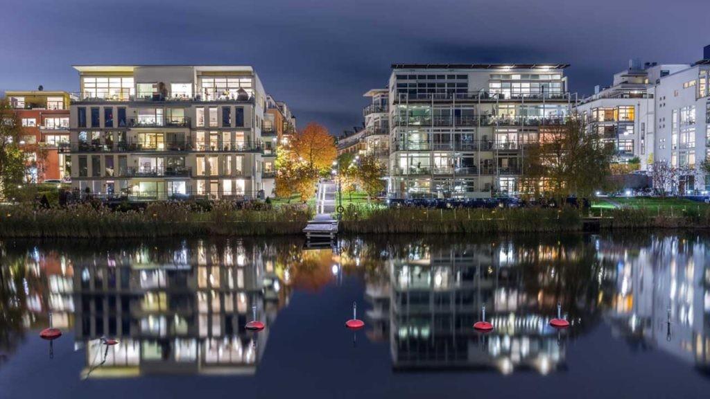 El barrio Hammarby Sjöstad, Estocolmo, es un ejemplo de metabolismo urbano.