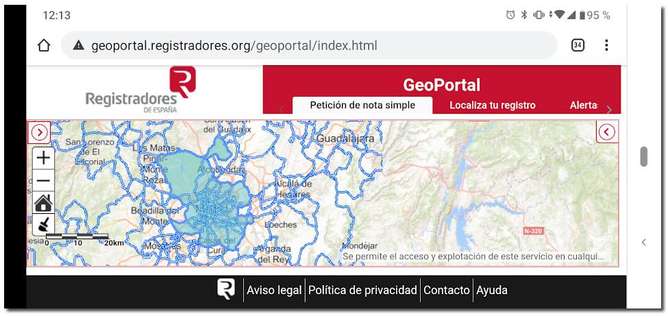 geoportal registradores de la propiedad