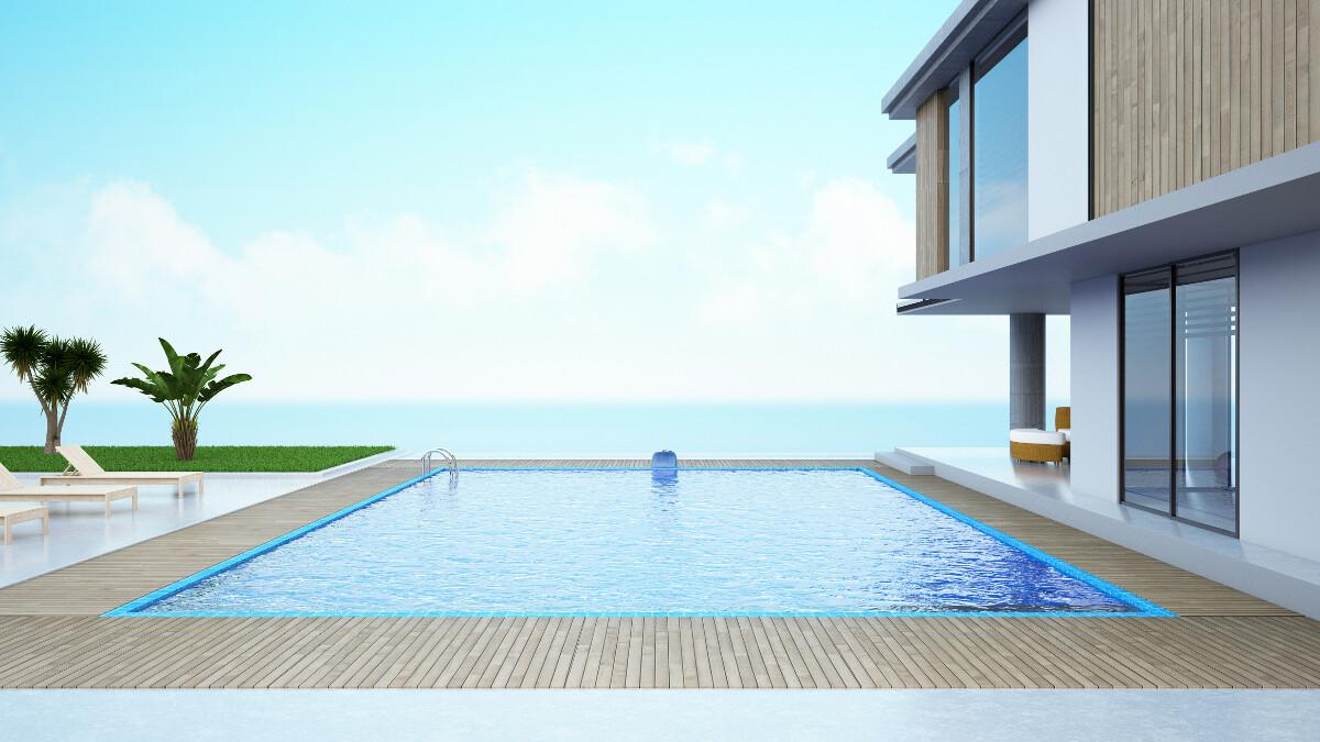 invertir playa en casa con piscina