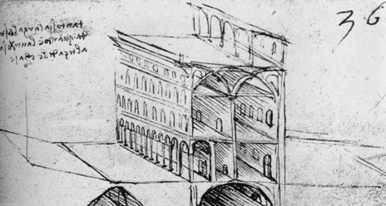 Imagen de la ciudad que diseñó Leonardo da Vinci.