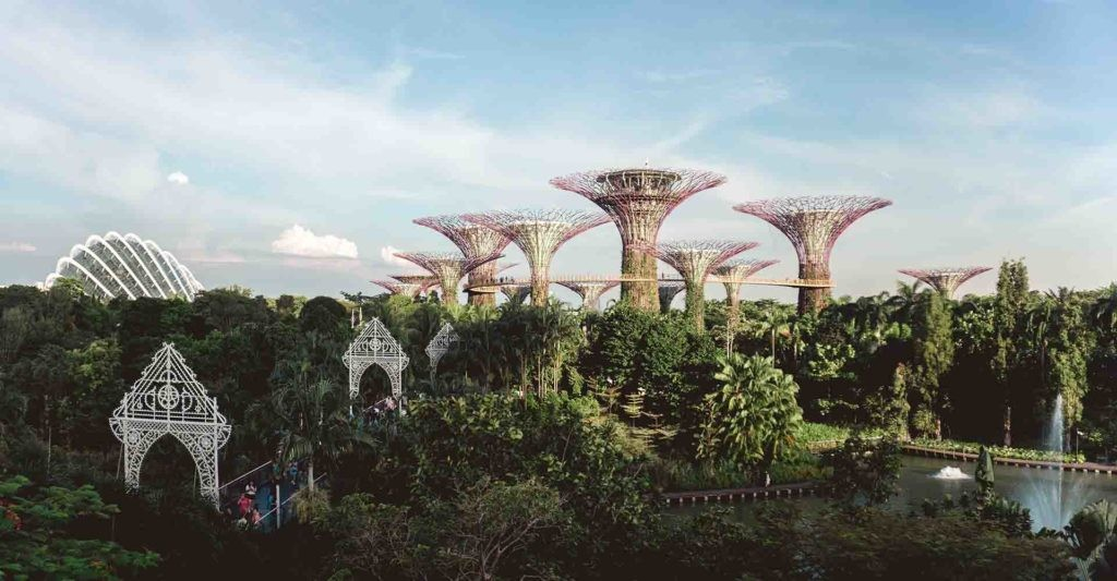 Singapur, ciudad jardín.