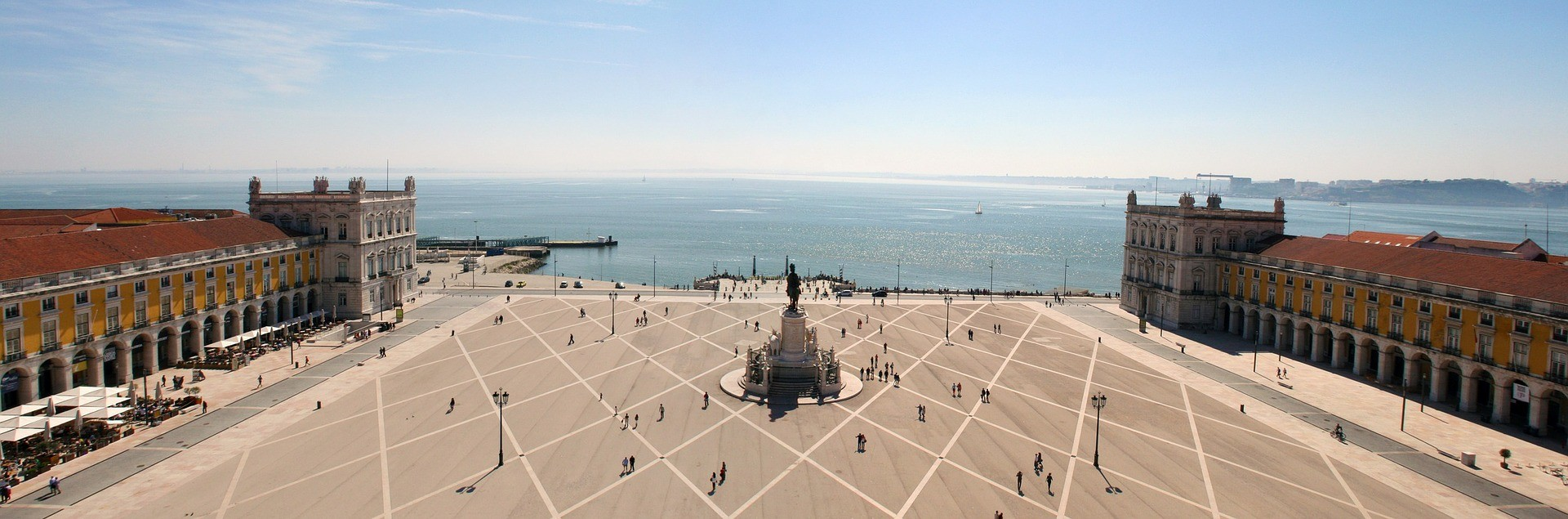 A large square in Lisbon.