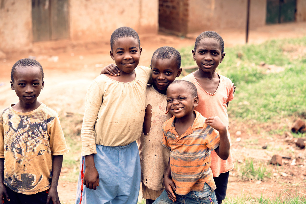 happy children in Africa