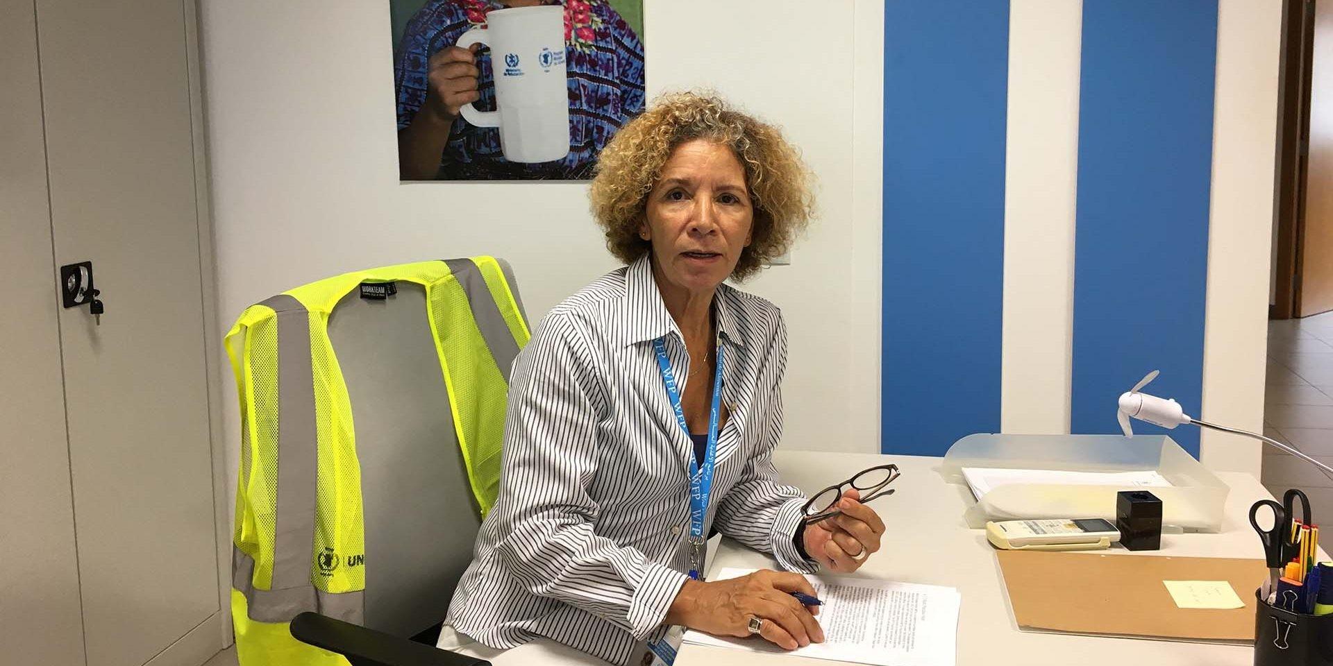 Ivelina Nunes, gerente de la base logística del WFP de Las Palmas de Gran Canaria.