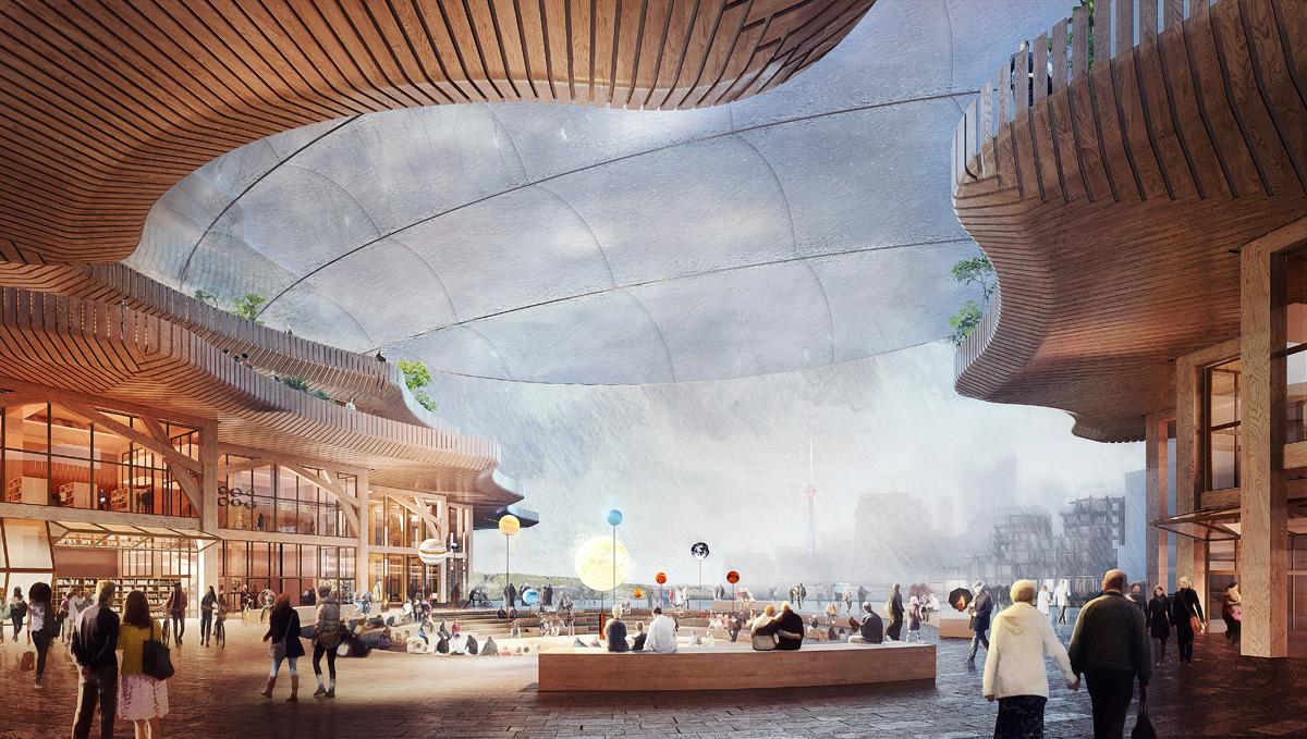 propuesta de centro comercial en ciudad inteligente