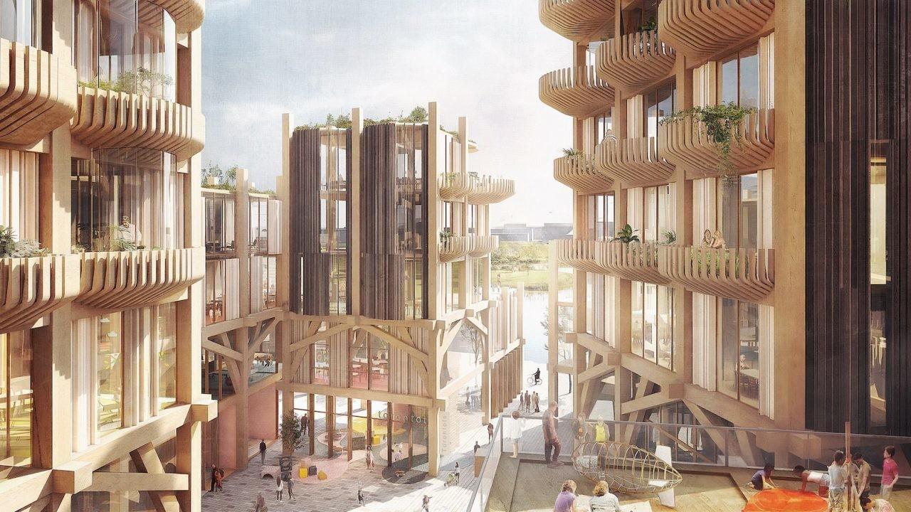 Imagen generada por ordenador del aspecto que tendrá la ciudad inteligente que Google está construyendo en Toronto.