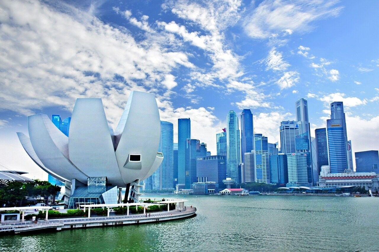 A striking view of Singapore