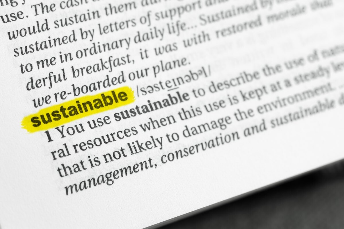 Sustainable: text book definition