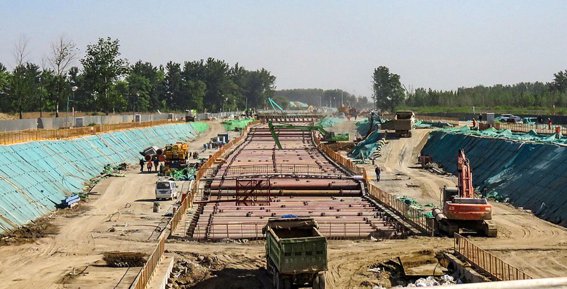 Construcción de la línea de alta velocidad Pekín-Xiong'an (2019)
