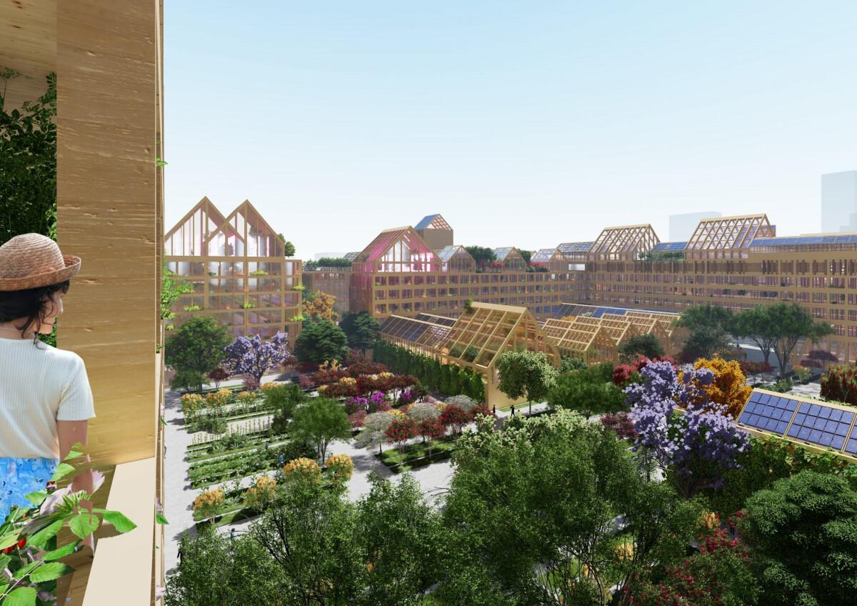 Vista de los apartamentos de Guallart en la Nueva Área de Xiong'an