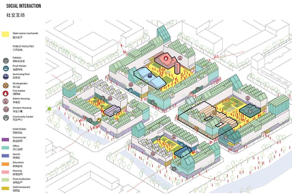 Distribución de las viviendas de Guallart en caso de situación de cuarentena.