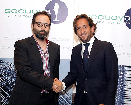 Antonio Ortiz, cofundador de Weblogs SL y Raúl Berdonés, presidente de Grupo Secuoya