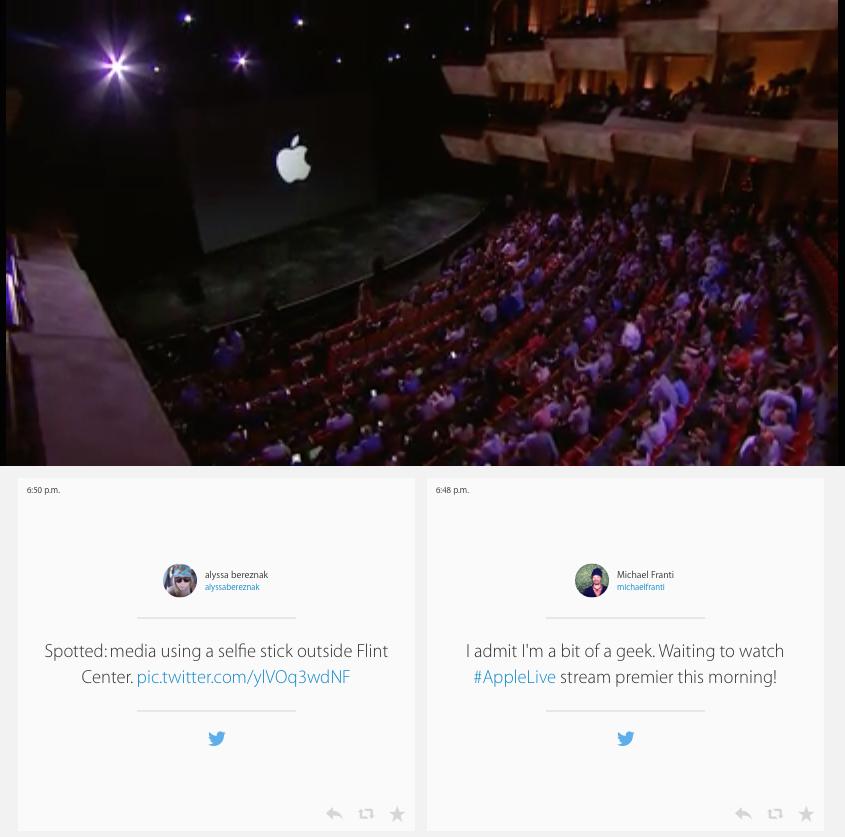 apple live blogging