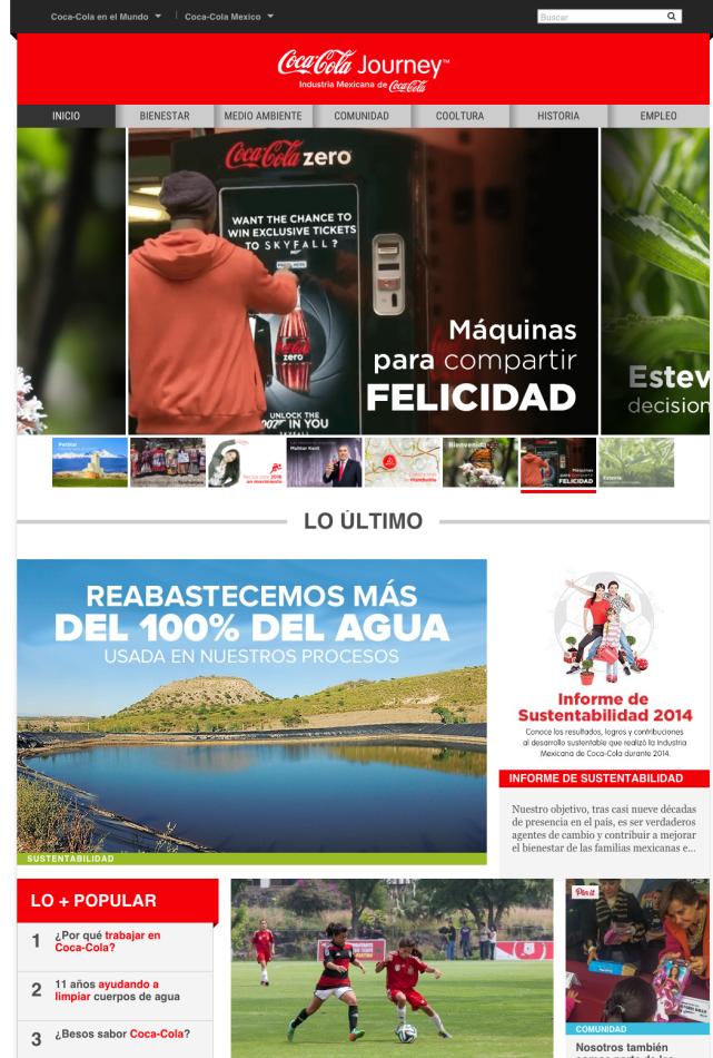 Coca Cola Journey Industria Mexicana de Coca Cola The Coca Cola Company