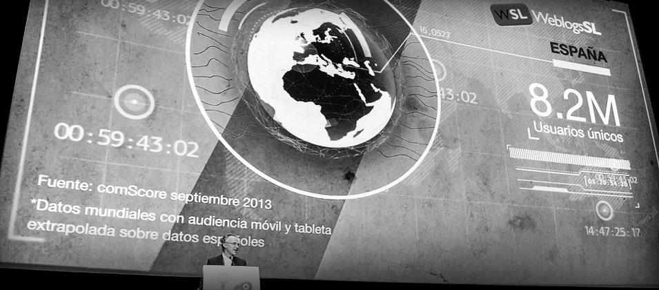 8.2 millones de Usuarios únicos. Datos mundiales con audiencia móvil y tableta extrapolados sobre datos españoles