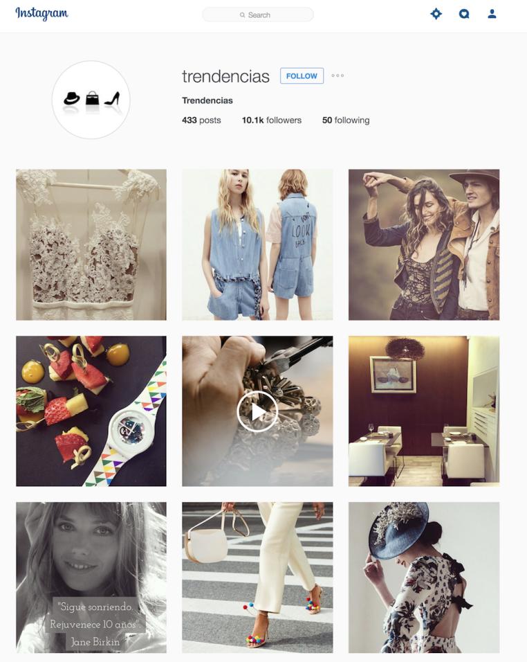 Instagram de Trendencias