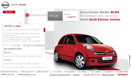 Nissan Micra Blog Edition