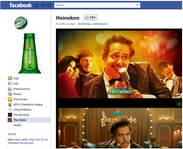 Camapaña de Heineken para San Valentin