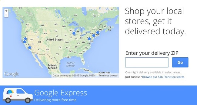 Google Express screenshot