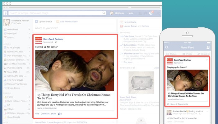 branded content facebook buzzfeed
