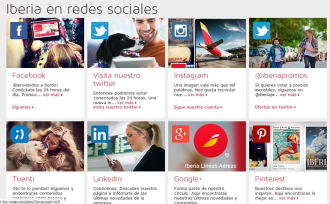 redes sociales Iberia